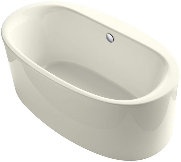 "View the Kohler K-6368 Sunstruck 66"" Free Standing Bath Tub with Armrests, Lumbar Support and Center Drain at Build.com."