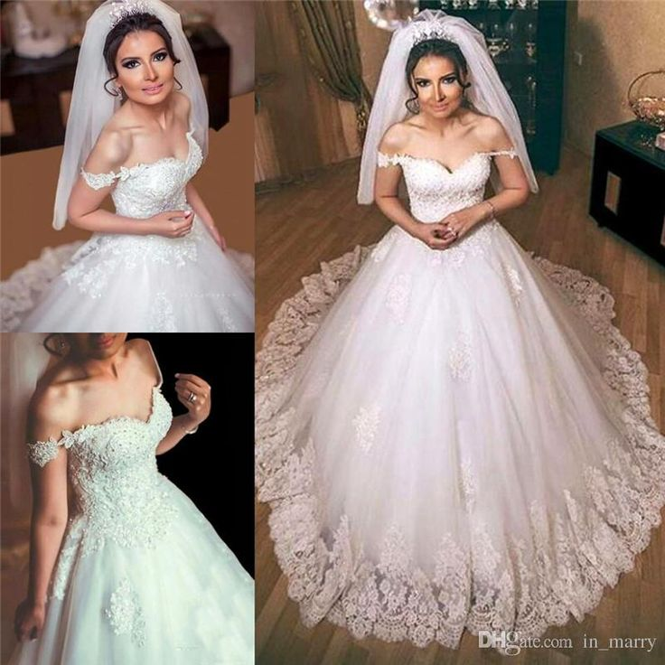 Cute Romantic Arabic African Country Wedding Dresses A Line Off Shoulder Lace Appliques Beaded Plus Size Cheap Modest Gothic Bridal Gowns