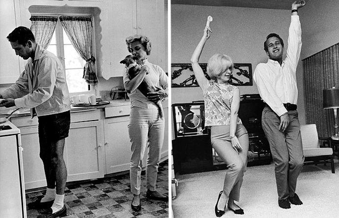 Пол Ньюман и Джоанн Вудворд, 1958
