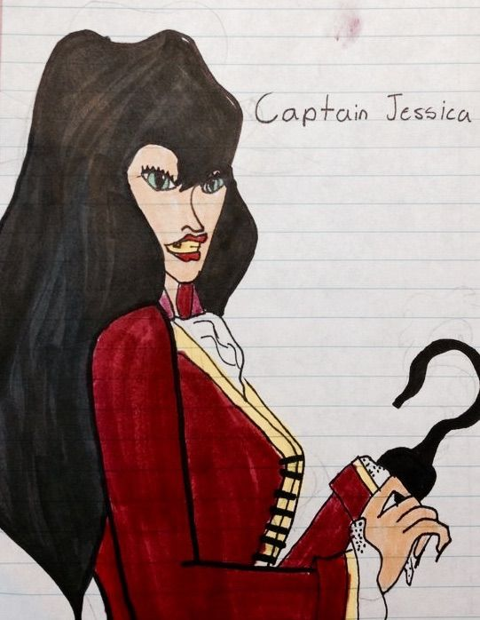 Captain Jessica Hook of the Jolly Roger