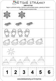 Zimní počítání (1-6)
