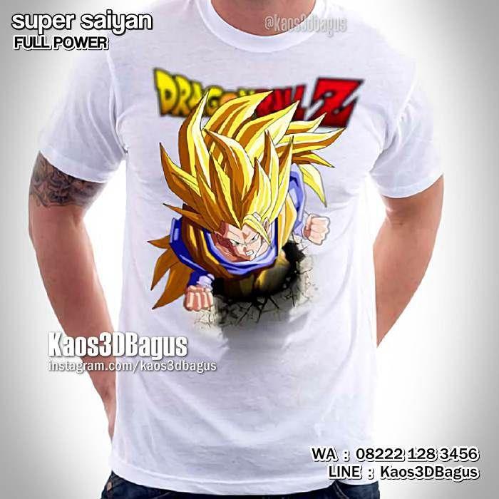 Kaos SUPER SAIYAN, Kaos DRAGON BALL, Kaos3D, Super Saiyan Full Power, Kaos SON GOKU, Kaos SON GOHAN, https://instagram.com/kaos3dbagus, WA : 08222 128 3456, LINE : Kaos3DBagus