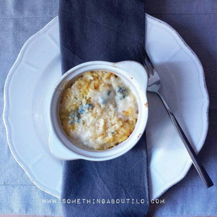 Polenta Bramata al Gorgonzola Recipe now online!  http://somethingaboutilo.com/2015/03/polenta-bramata-al-gorgonzola/