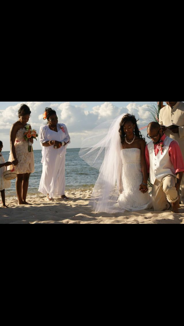 Black/African American Wedding; Beach Wedding; Coral Wedding; Jesus At The  Center
