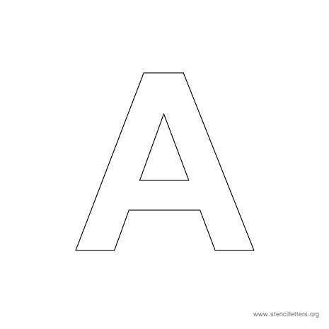 Uppercase arial stencil letter a multiple stencil for 2 inch letter board letters