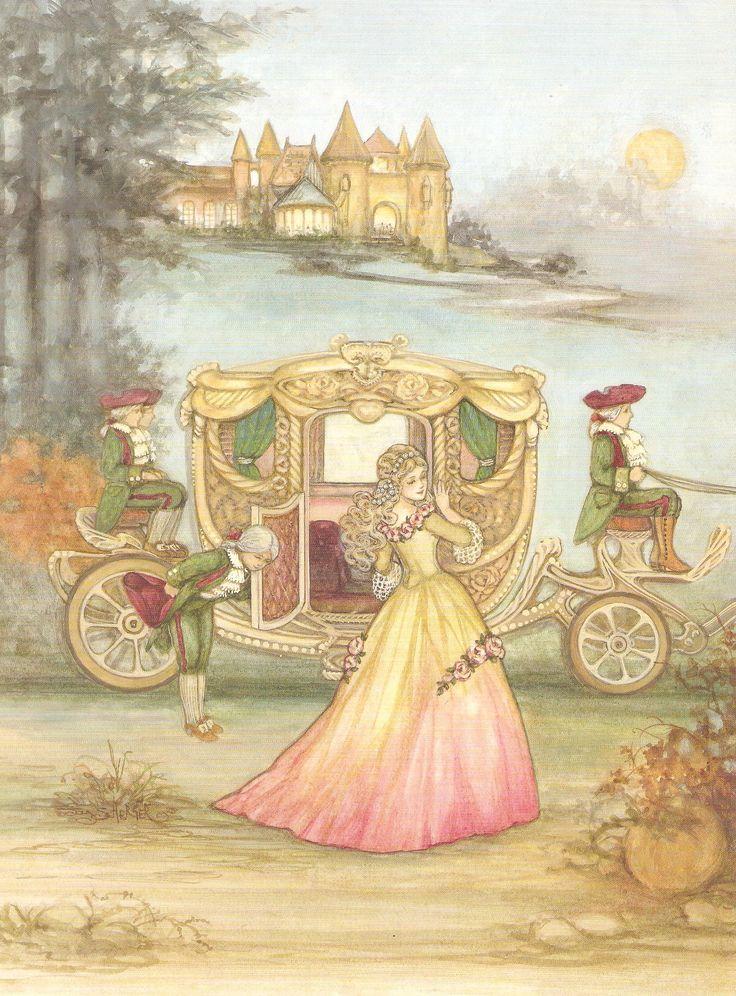 lovely cinderella book illustration ~ by joy scherger