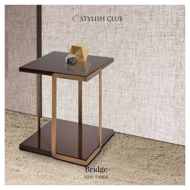 The Bridge side table looks so elegant when it is surrounded by the dark brown tones. But what if we take it to a brighter side? It doesn't lose its charm. The stylish look is embraced by the light tones and it becomes one excellent match!  For more, visit our website: ☛ stylishclub.pt