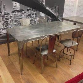 Industrial design vintage dining table