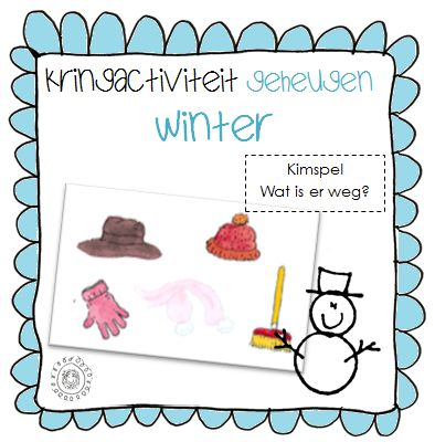 Kimspel: Wat is er weg? | Thema WINTER