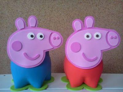 15 Ideas para Hacer Centros de Mesa con la Temática de Peppa Pig