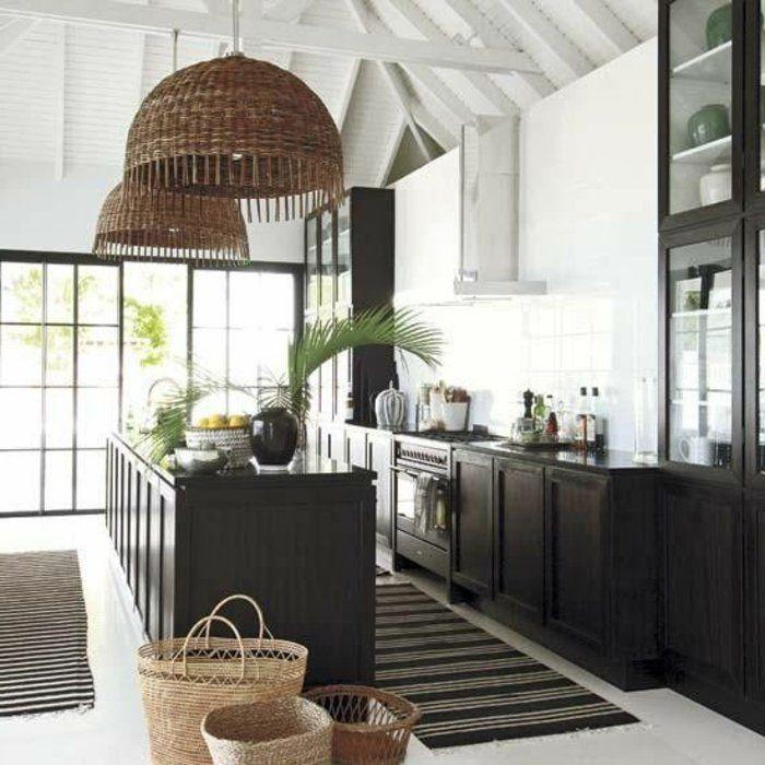 couleur cuisine feng shui moderne avec ilot central de cuisine et tapis noir plafond sous comblesjpg - Feng Shui Chambre Sous Pente