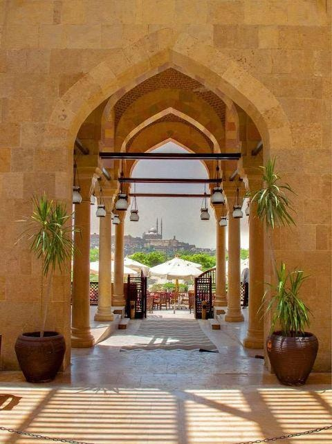 Archway, view of the Citadel in the background, Cairo - Egyot