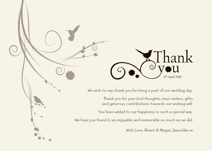 Best Thank You Card Notes Images On   Wedding Stuff