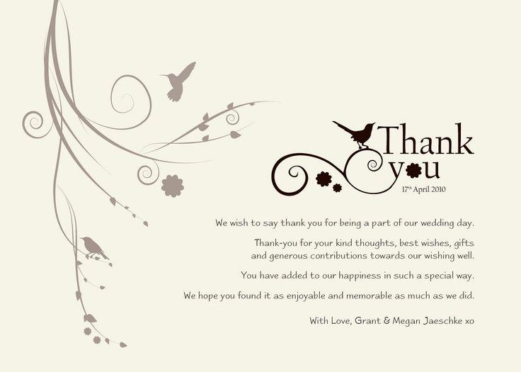 Thank you card gift card wedding