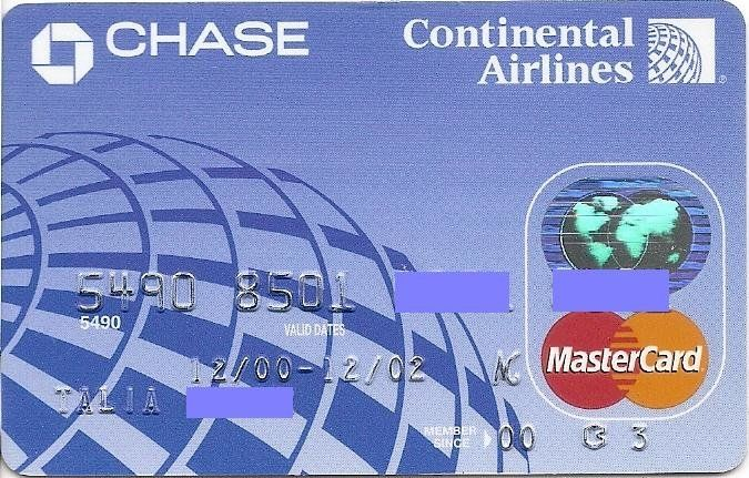 Chase Continental Airlines (Chase Manhattan Bank USA, N.A., United States of America) Col:US-MC-0179