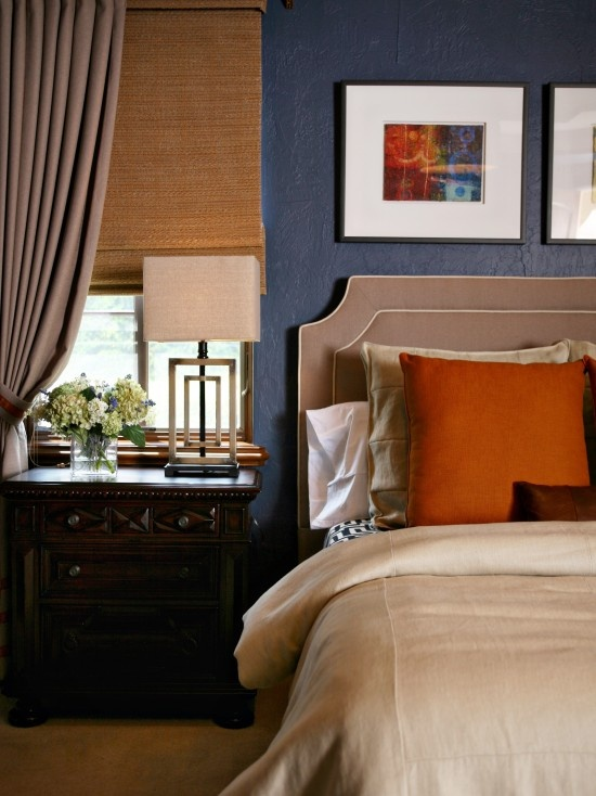 Blue Orange Bedroom Design Pictures Remodel Decor And Ideas