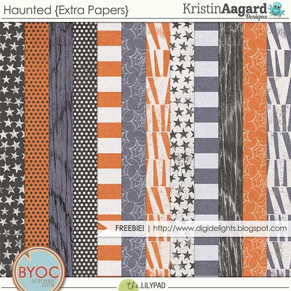 Free Haunted Paper Pack from Kristen Agaard Designs