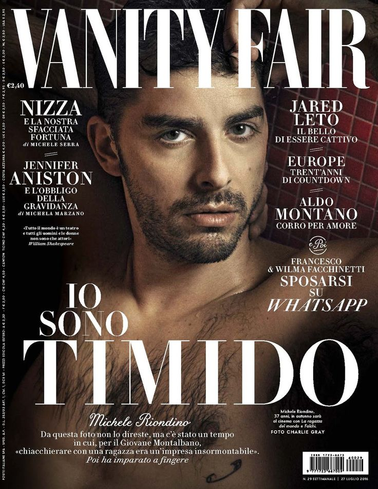 Michele Riondino para Vanity Fair Italia Julio 2016 por Charlie Gray