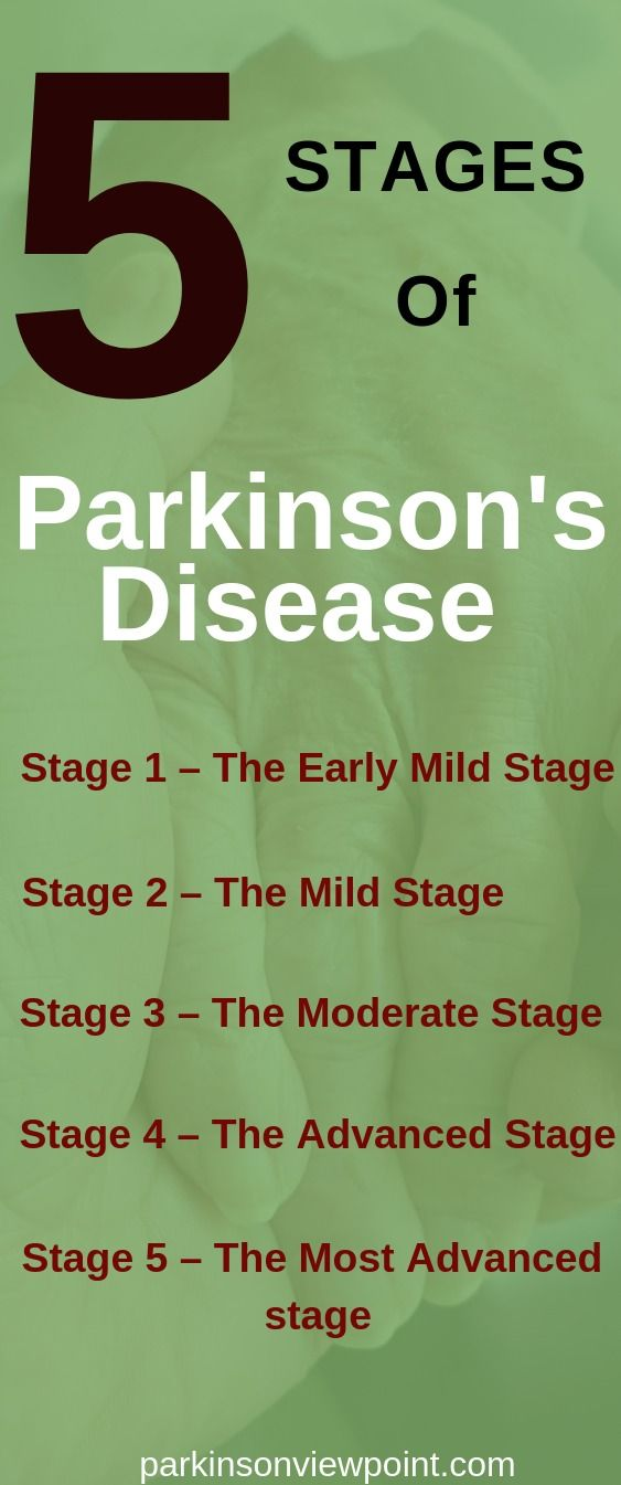 Parkinson's disease progression can be classified into 5 main stages