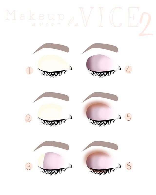 maquillage pour les yeux marrons avec la vice 2 step by step maquillage pinterest 2 step. Black Bedroom Furniture Sets. Home Design Ideas