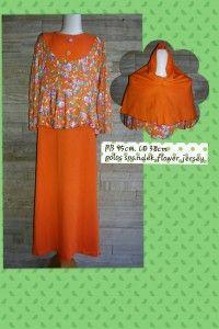 Dapatkan Baju Muslim Anak Motif bunga , Baju Muslim anak ini merupakan model terbaru dilengkapi dengan kerudung sehingga menunjang penampilan anak anda pun lebih matching dan cantik, cocok dalam menemani berbagai aktifitas anak anda nyaman dibadan karena terbuat dari bahan katun.