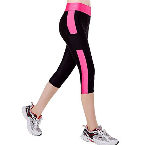 CHIC-CHIC Women Ladies Tights Capri Leggings Yoga Pants for Gym Workout Running Fitness