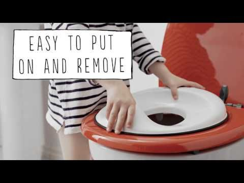 Cute video from @babybjornus shows how easy it is to use the Toilet Trainer! Find it and more at www.boomersandechoes.com