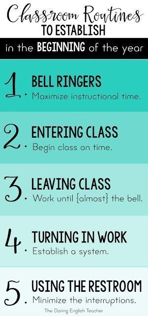Effectively manage your new middle school or high school classroom by establishing these five classroom routines in the beginning of the year. First week classroom routines for effective classroom management.