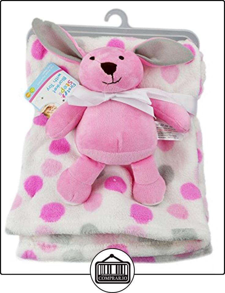 First Steps - manta Super suave de forro polar para bebé con peluche, a partir de 6meses, lavado a 30º rosa PinkBunny  ✿ Regalos para recién nacidos - Bebes ✿ ▬► Ver oferta: http://comprar.io/goto/B01B2TGNCG