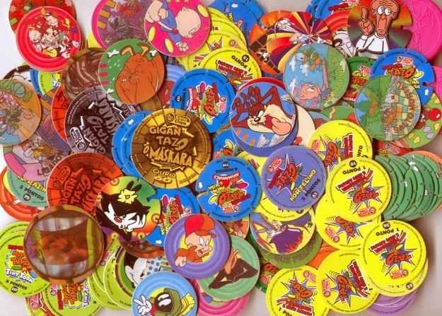 Tazos | 60 brinquedos dos anos 80 e 90 que farão você querer inventar uma máquina do tempo