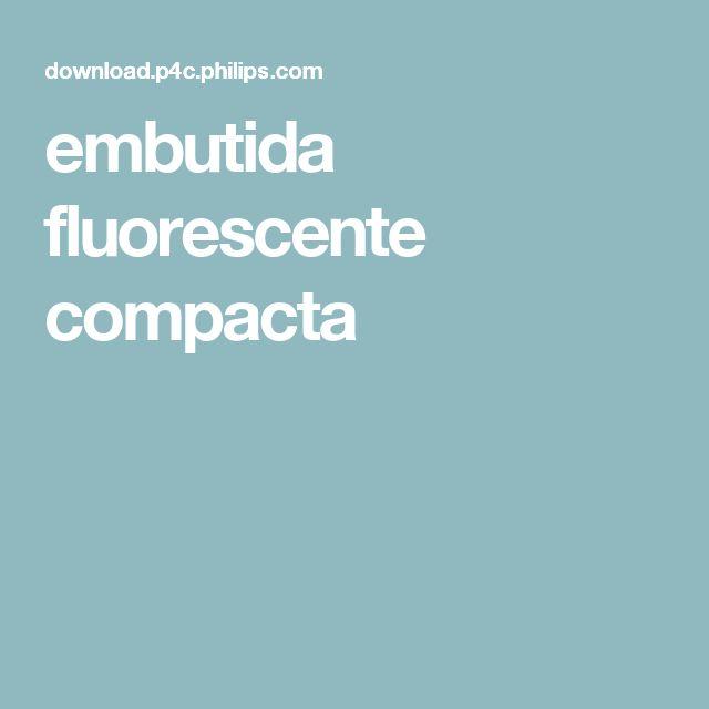 embutida fluorescente compacta