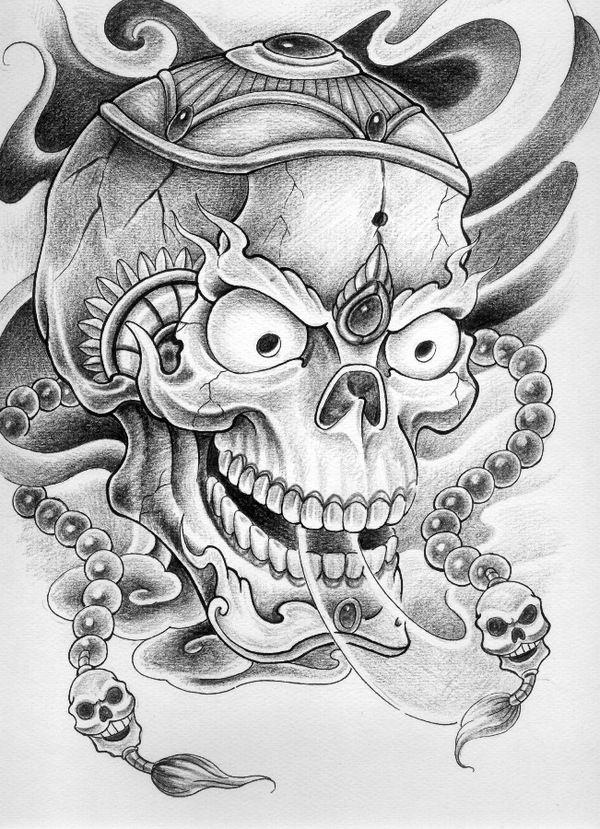 skulls tattoo flash - Google Search