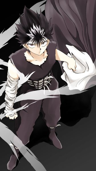 Day 25: Demon or human Hiei - What kind of a question is that? Even if you could, to turn Hiei human would incur his ultimate wrath upon you. Does this look like the face of someone who wants to be human?