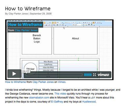 Wireframes Screenshot