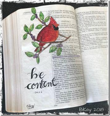 Bible Art 1Tim 6-6 Contentment
