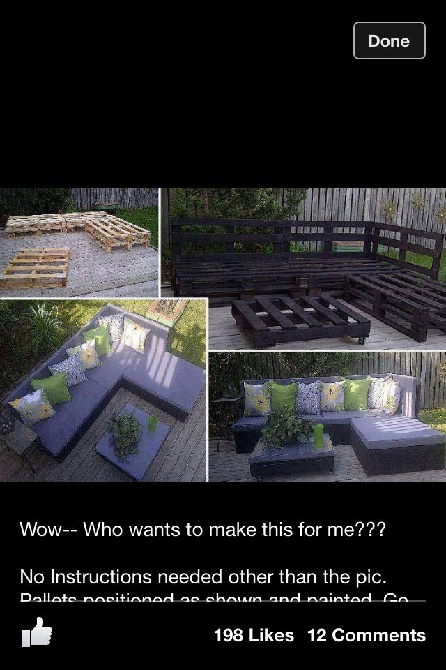 DIY furniture - i should be doing this....for the porch that I will have some day!