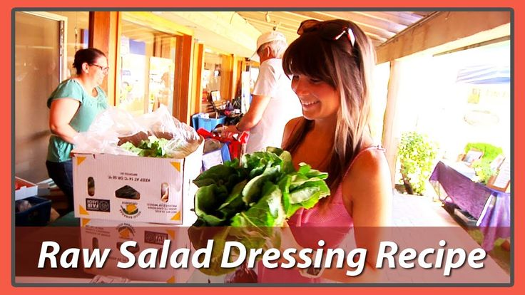 Megan Elizabeth - Delicious Raw Salad Dressings Take a quick trip with me to the farmer's market so we can get greens to make our salad. Then we'll head back home and I will show you how to make two really simple and yummy salad dressings so you can start to eat more salad.