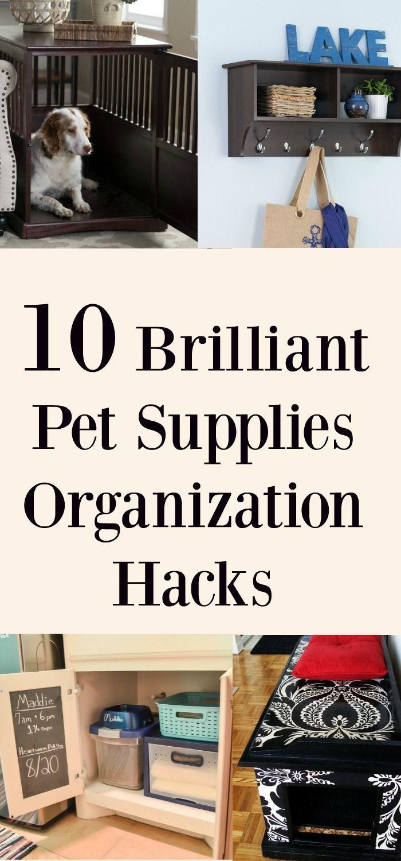 10 Brilliant Pet Supplies Organization Hacks
