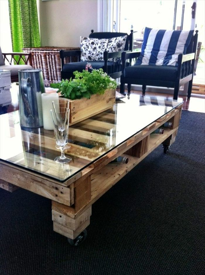 Best 25 palette table ideas on pinterest palette coffee tables palette fu - Fabriquer table en palette ...