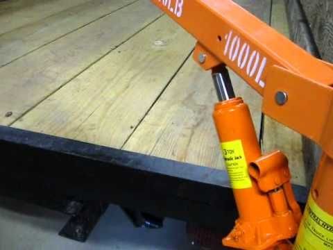 My cheap pickup truck crane (Under $100 harbor freight model 1647) - YouTube