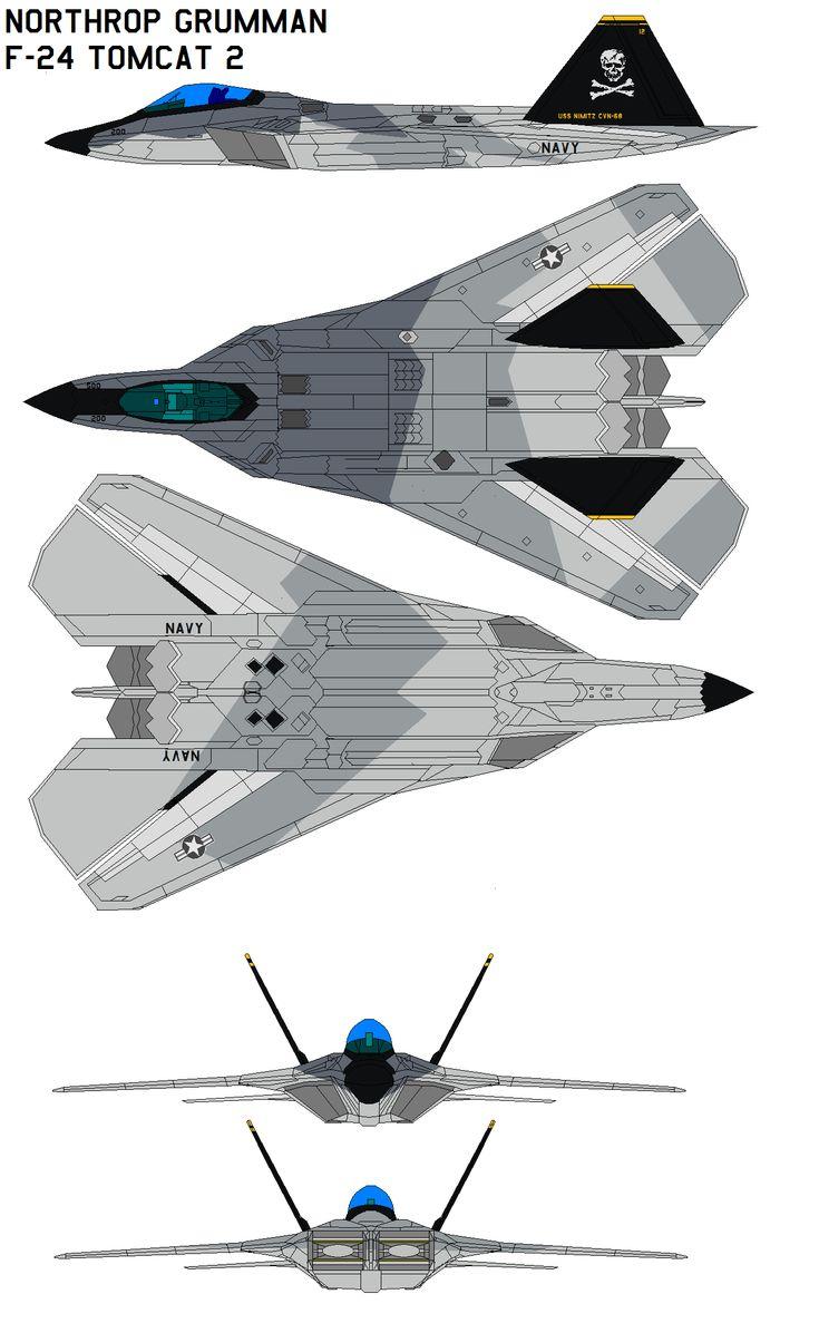 Hypothetical F-14 replacement. Northrop Grumman F-24 Tomcat 2 by bagera3005.deviantart.com