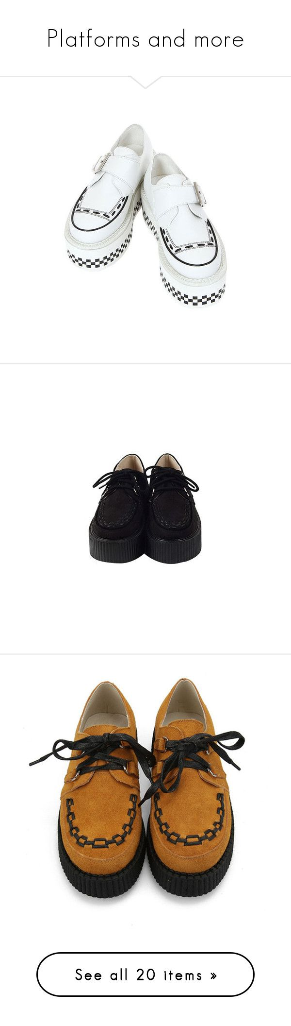 """""""Platforms and more"""" by m-gy ❤ liked on Polyvore featuring shoes, sneakers, creepers, shoes - sneakers, black leather trainers, lace up sneakers, leather sneakers, black lace up shoes, leather shoes and footwear"""