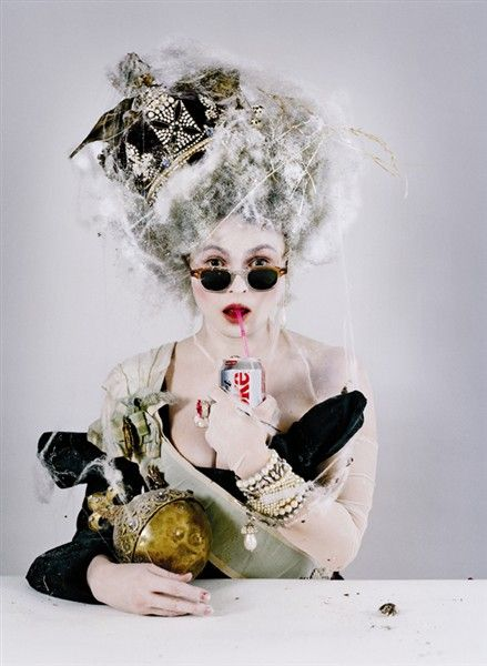 coolest gothic fashion idol on film followers god save the queen of eclectic english style , happy mothers day hope you feel like a queen . Helene Bonham Carter photographed by Annie Liebovitz, Vanity Fair 1998
