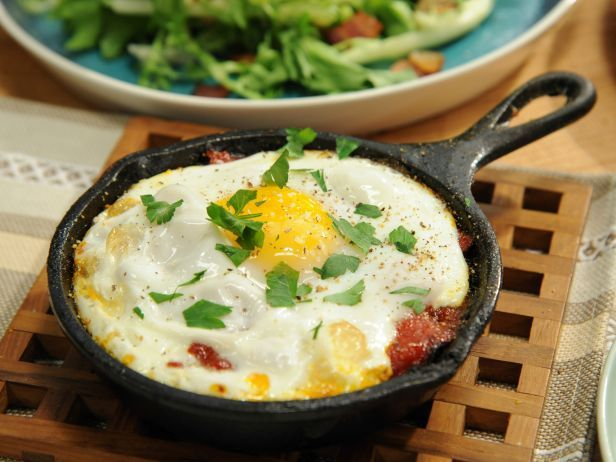 As seen on The Kitchen: Sunny's Eggs in Burgatory