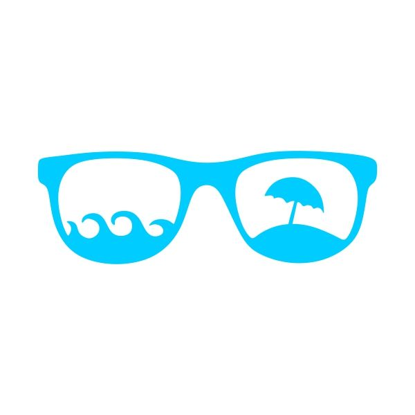 Beach Sunglasses Cuttable Design Cut File. Vector, Clipart, Digital Scrapbooking Download, Available in JPEG, PDF, EPS, DXF and SVG. Works with Cricut, Design Space, Sure Cuts A Lot, Make the Cut!, Inkscape, CorelDraw, Adobe Illustrator, Silhouette Cameo, Brother ScanNCut and other compatible software.