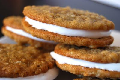 Homemade oatmeal cream cookies