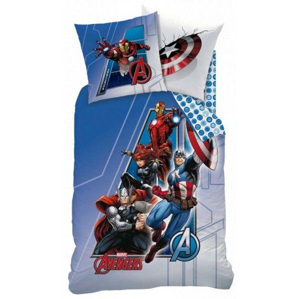 Marvel Avengers sengetøj i 100% bomuld med Ironman, Captain America, Black widow og Thor