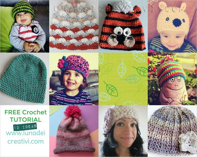 LUNAdei Creativi | Schemi di Cappelli GRATIS: Eccone 11 da Urloooooo! | http://lunadeicreativi.com