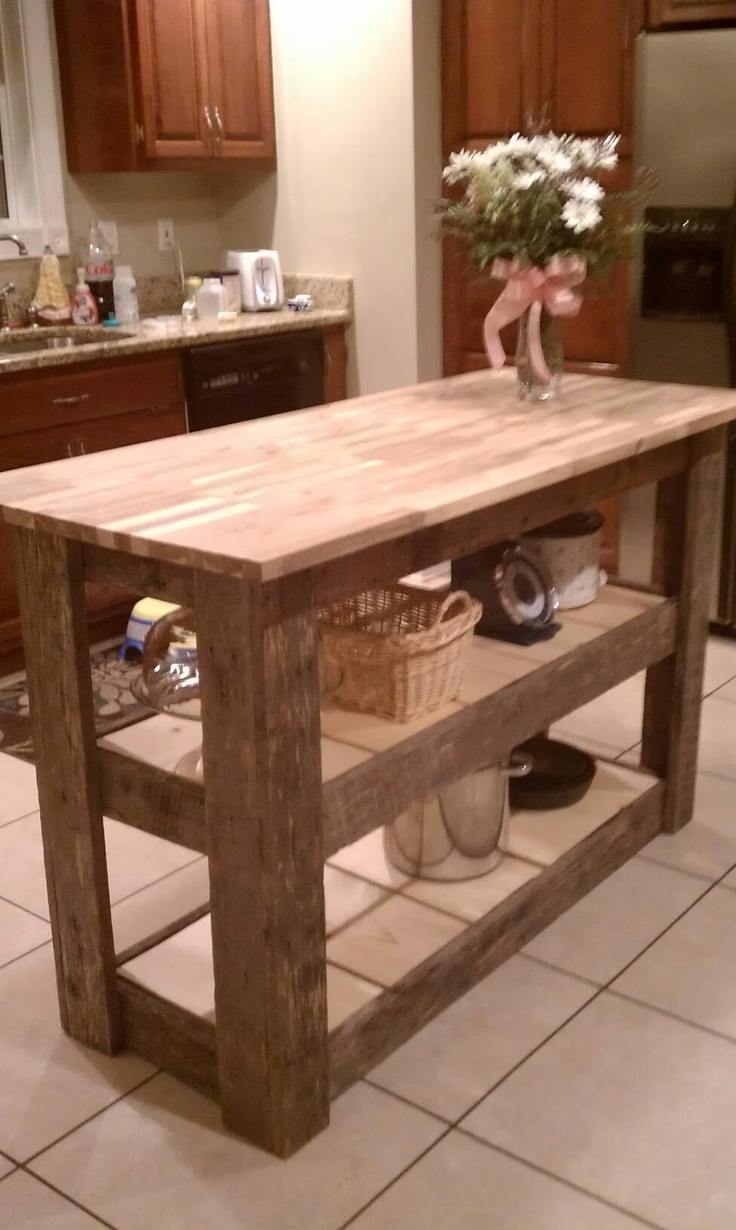 barnwood kitchen island kitchen island made from upcycled barn wood so purrty 1488