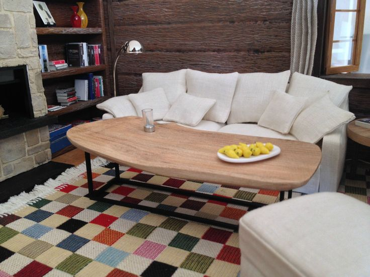 Coffee Table Made With Wood From The Nearby Forest.